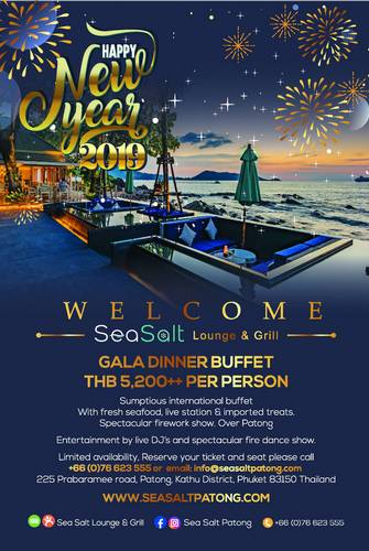 NYE 2019 Special at Sea Salt Lounge & Grill